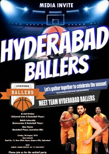 Hyderabad Ballers - Cocktail Party - - PR Management by 3 MARK SERVICES
