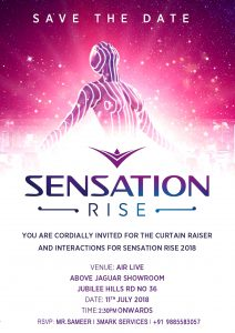 Sensation Rise Press invite - 11.07.18 - PR Management by 3 MARK SERVICES